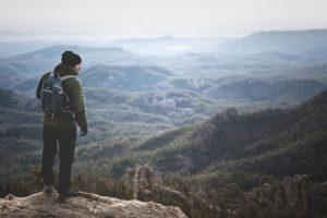 Man on Top of Black Hills